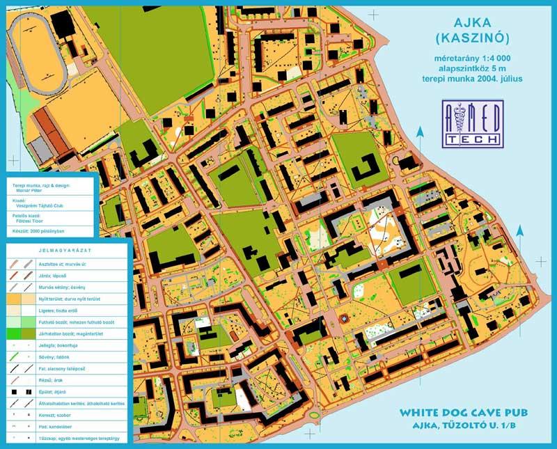 ajka térkép VeszCart Térkép Stúdió    ajka térkép
